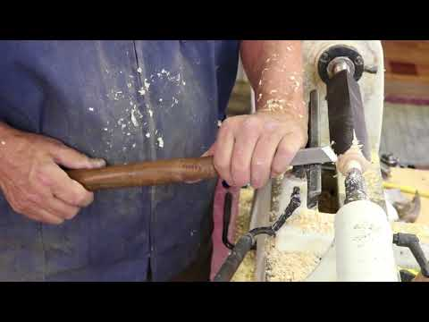 Turning with a  Skew chisel on square stock    with Sam Angelo the Wyomingwoodturner