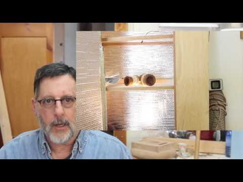 Light bulb kiln for Drying Wood: (update) woodturning with Sam Angelo