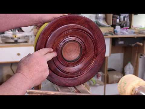 Turned Plate with Off-Center Chuck   with Sam Angelo   wyomingwoodturner
