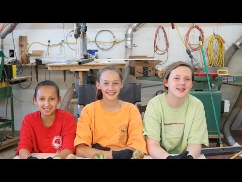 Kids and Woodturning:   wyomingwoodturner and granddaughters