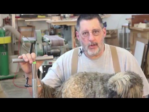 Shop Built, Floor-Mount Tool rest:  (video Remake) Sam Angelo woodturning