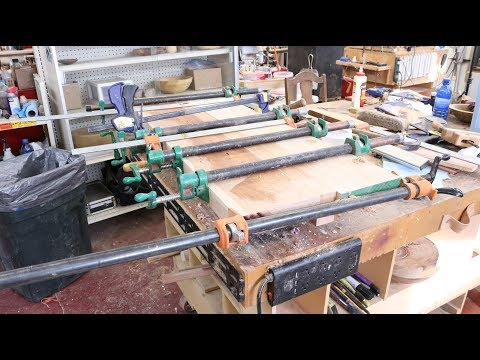 Woodturner\'s Workbench -PART 2  Gluing the Top Sam Angelo  Wyomingwoodturner