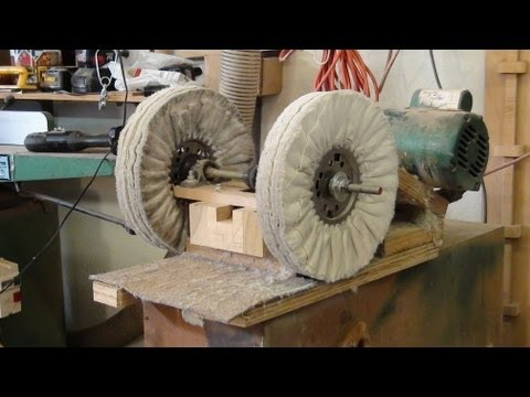 Buffing Lacquer on Lathe-turned Art