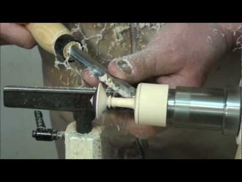 WOODTURNING:  TURNING A TOP on the LATHE  WITH TEXTURE