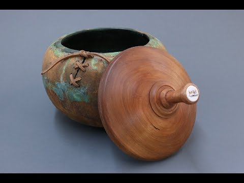 Large Beads of Courage Container: the Base- Sam Angelo wyomingwoodturner