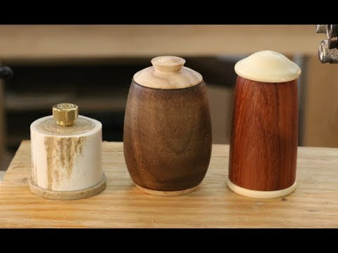 Lidded Box with Matching bottom:  Woodturning with Sam Angelo