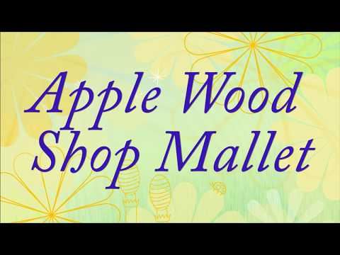 Lathe-Turned Apple Wood Shop Mallet with Sam Angelo  the WYOMINGWOODTURNER