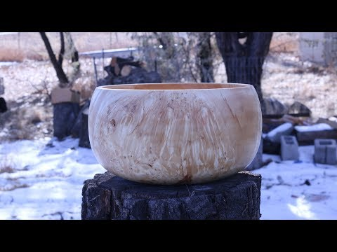 CALABASH BOWL:  Woodturning with Sam Angelo  the WyomingWoodturner