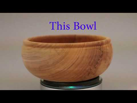 Lathe-turned Viking Bowl:  woodturning by Sam Angelo  wyomingwoodturner