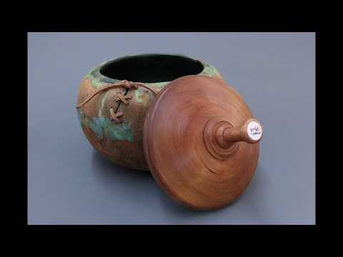 Lid for Large Beads of Courage Container Sam Angelo wyomingwoodturner
