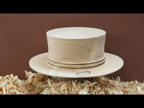A Wyomingwoodturner COWBOY HAT  by Sam Angelo