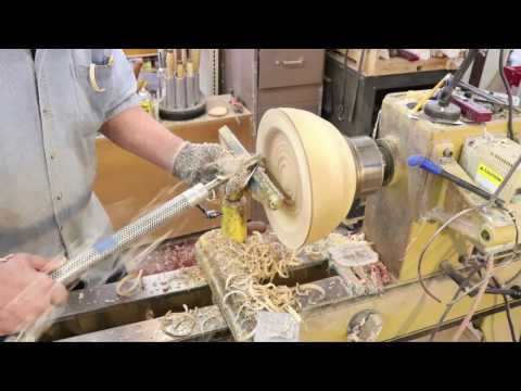 Rough Turning a Birch BOWL,   part 2 Sam Angelo wyomingwoodturner