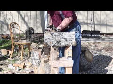 Log holder for Milling Wood with a Chainsaw  Sam Angelo, wyomingwoodturner