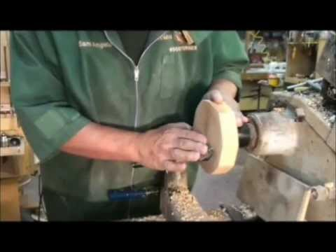 WOODTURNING:  Mounting wood on the lathe (2 OF 2)