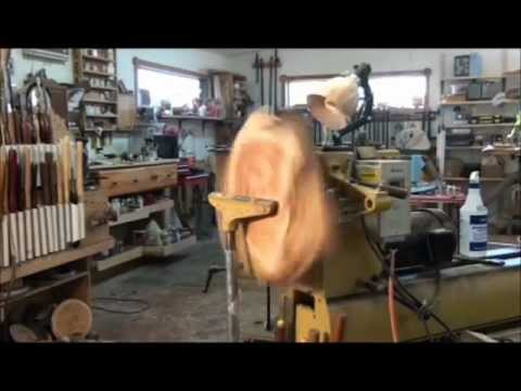 Shop-built outboard Wood Lathe tool rest