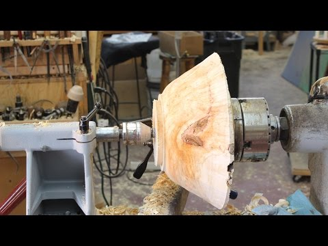 Roughing Cut for Bowl turning:   wyomingwoodturner