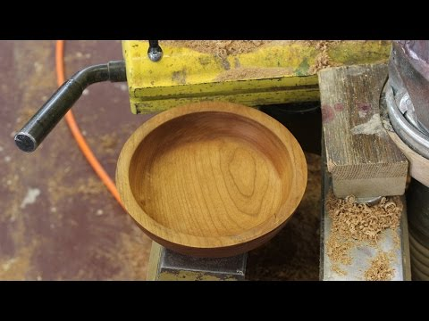 Turning a Cherry Bowl from Seasoned Wood