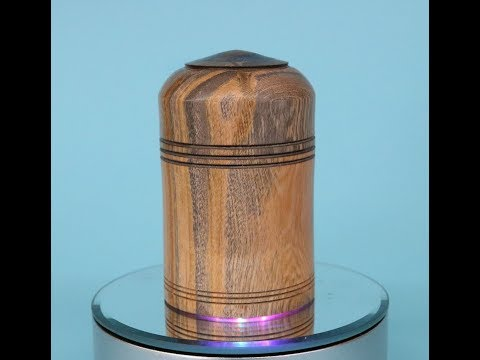 Turning a Stabilized lidded box with a Threaded fitment:  Sam Angelo Wyomingwoodturner