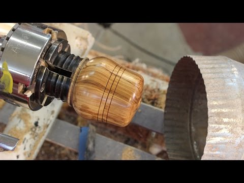 Completing a Rough-Turned Lidded Box:   (2)     Woodturning with Sam Angelo