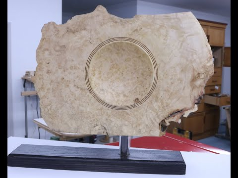 Unfinished Business-2   Box Elder Burl Display Piece with  Sam Angelo